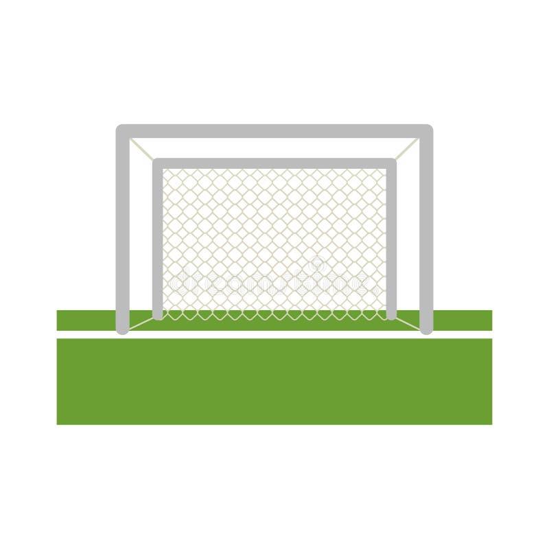 Objetivo do futebol no campo ilustração stock