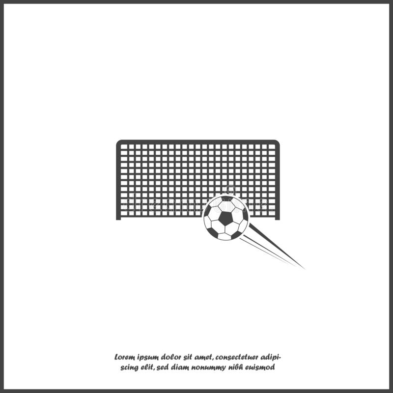 Objetivo do futebol do vetor no fundo isolado branco Camadas agrupadas para a ilustra??o f?cil da edi??o ilustração royalty free