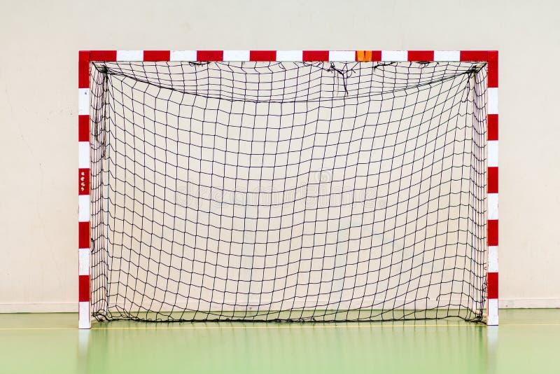 Objetivo do handball do objetivo do futebol do objetivo do futebol fotografia de stock royalty free