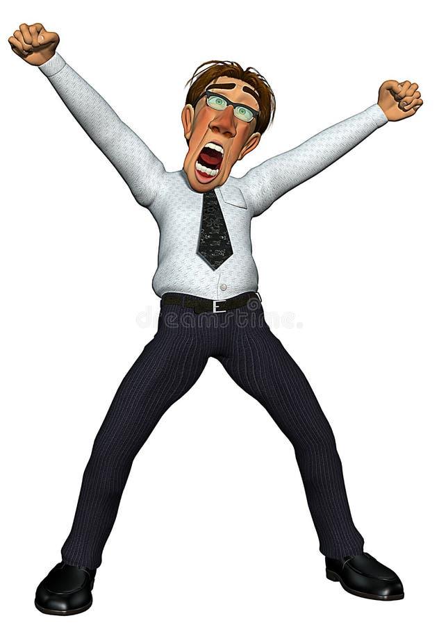 objetivo do homem de negócios 3d ilustração do vetor