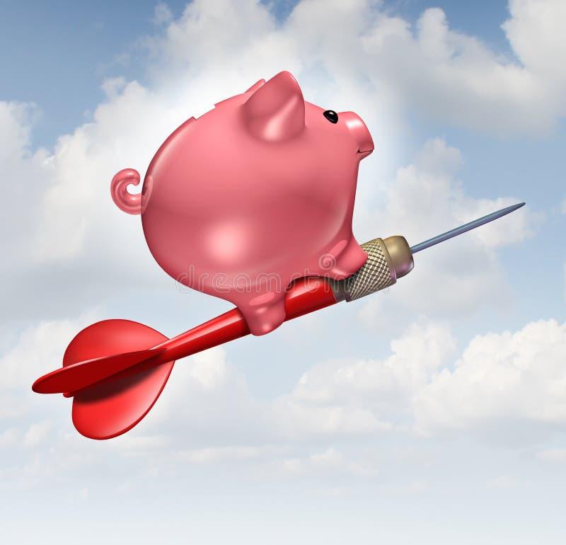 Objetivo do orçamento ilustração stock