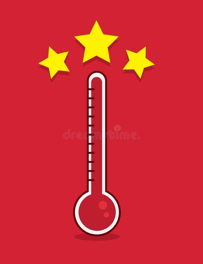 Objetivo do termômetro encontrado ilustração do vetor