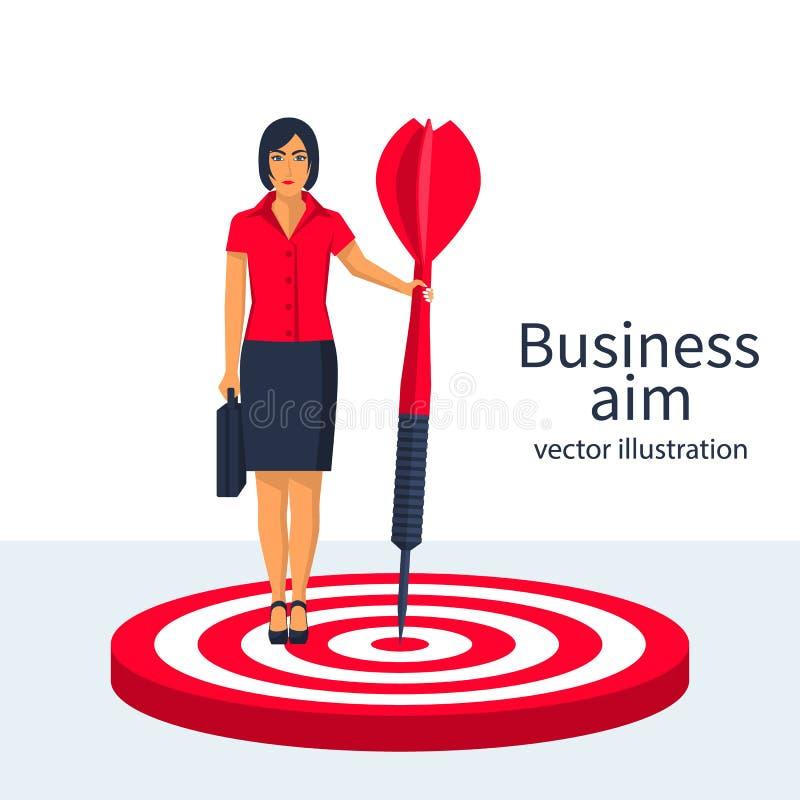 Objetivo en vector del concepto del negocio ilustración del vector