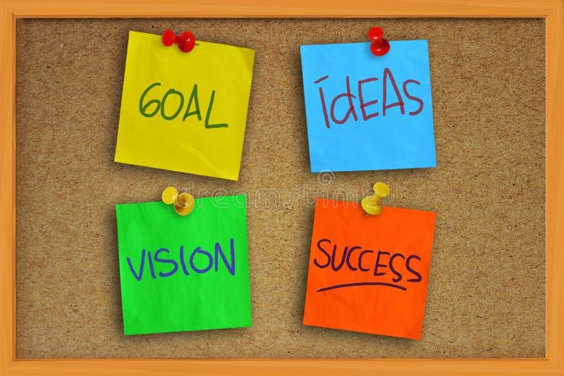 Objetivo, ideias, visão e sucesso imagens de stock royalty free