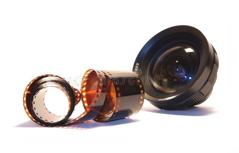 Objetivo Negro Y Película Imágenes de archivo libres de regalías