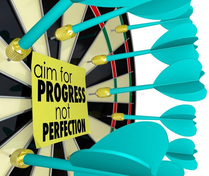 Objetivo para la mejora del tablero de dardo de la perfección del progreso no libre illustration