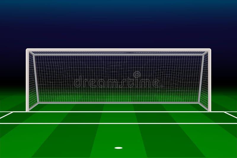 Objetivo realístico do futebol ilustração stock