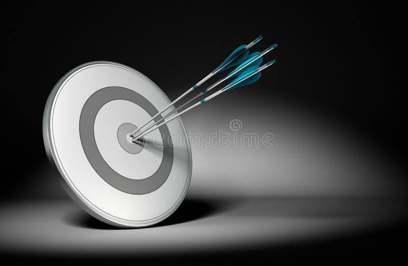 Objetivos de Bem sucedido Empresa - conceito do negócio ilustração do vetor