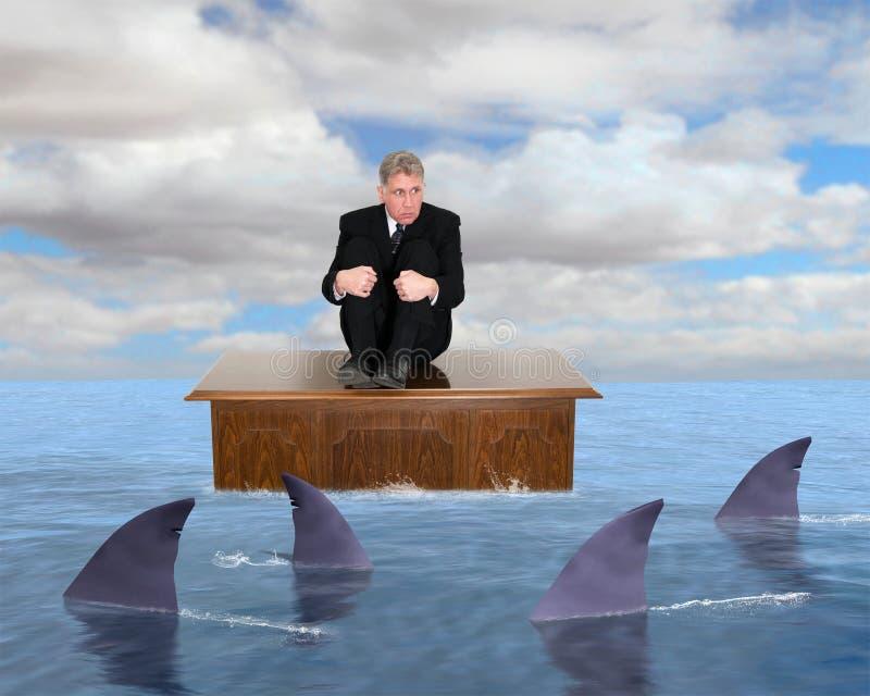 Objetivos do mercado do lucro das vendas do negócio ilustração do vetor
