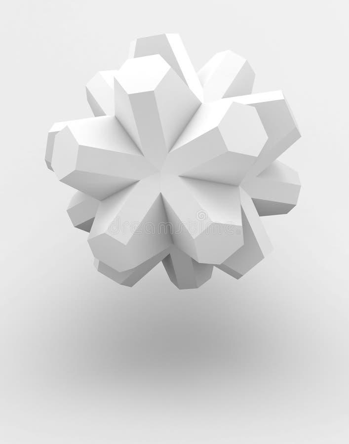 Objeto abstracto ilustración del vector