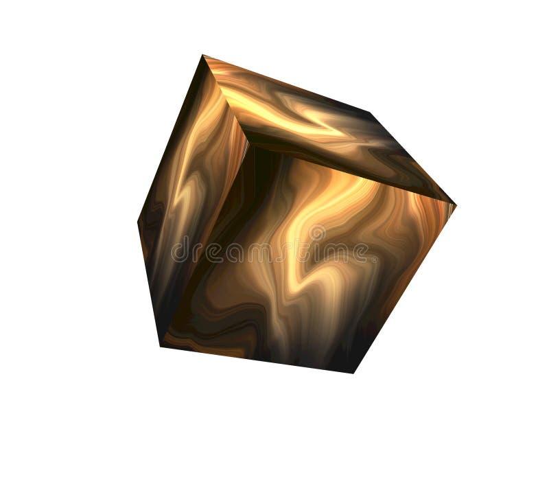 Objeto abstrato do cubo ilustração do vetor