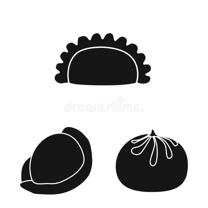 Objeto aislado de la cocina y de la muestra del aperitivo Fije de la cocina y del ejemplo del vector de las existencias de alimen ilustración del vector