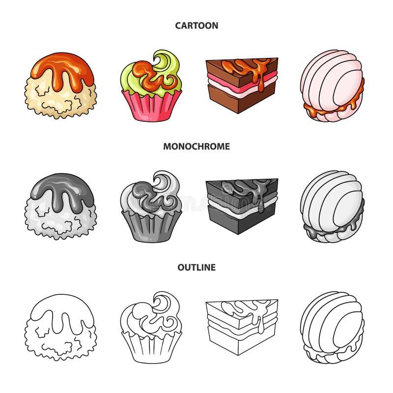 Objeto aislado de la confitería y del icono culinario Colección de ejemplo del vector de la acción de la confitería y del product ilustración del vector