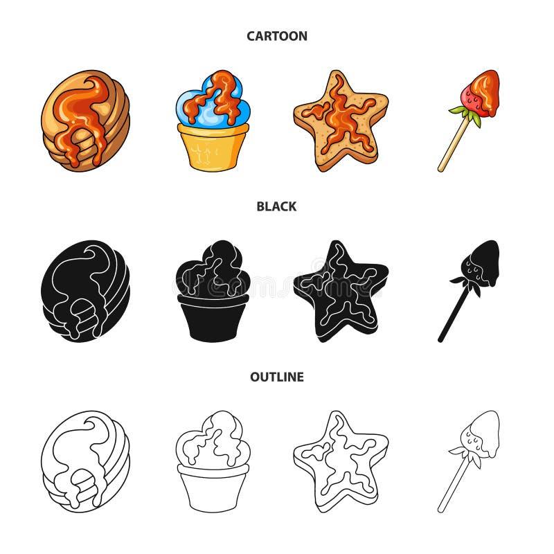 Objeto aislado de la confitería y del icono culinario Colección de icono del vector de la confitería y del producto para la acció libre illustration