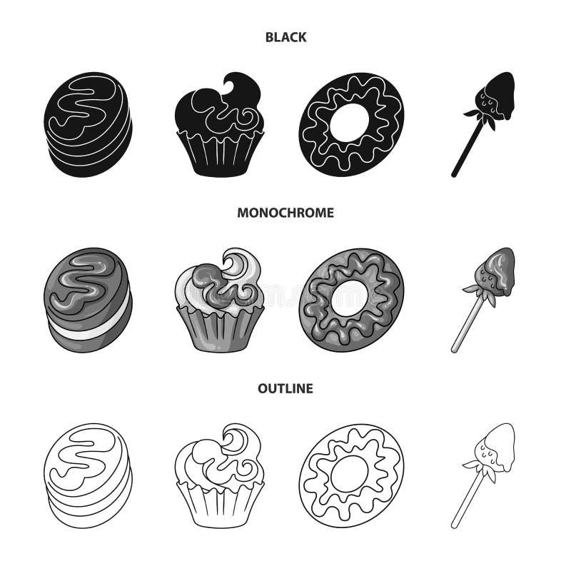 Objeto aislado de la confitería y del logotipo culinario Fije del ejemplo del vector de la acción de la confitería y del producto stock de ilustración