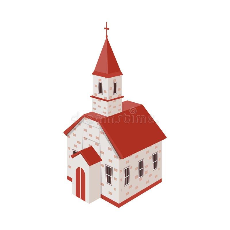 Objeto aislado de la iglesia y del icono ortodoxo Fije de iglesia y del ejemplo común cruzado del vector ilustración del vector