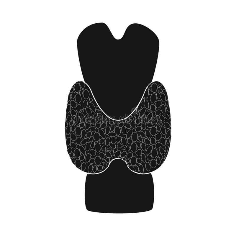 Objeto aislado de la investigación y del icono del laboratorio Colección de icono del vector de la investigación y del órgano par libre illustration