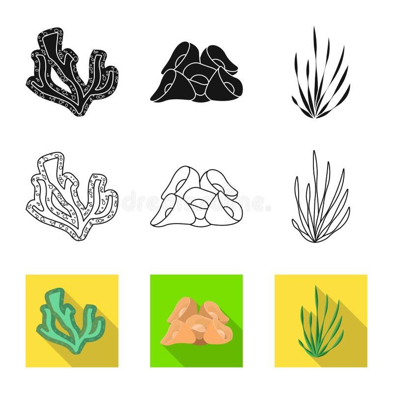 Objeto aislado de la muestra de la biodiversidad y de la naturaleza Fije de biodiversidad y del ejemplo común del vector de la fa libre illustration