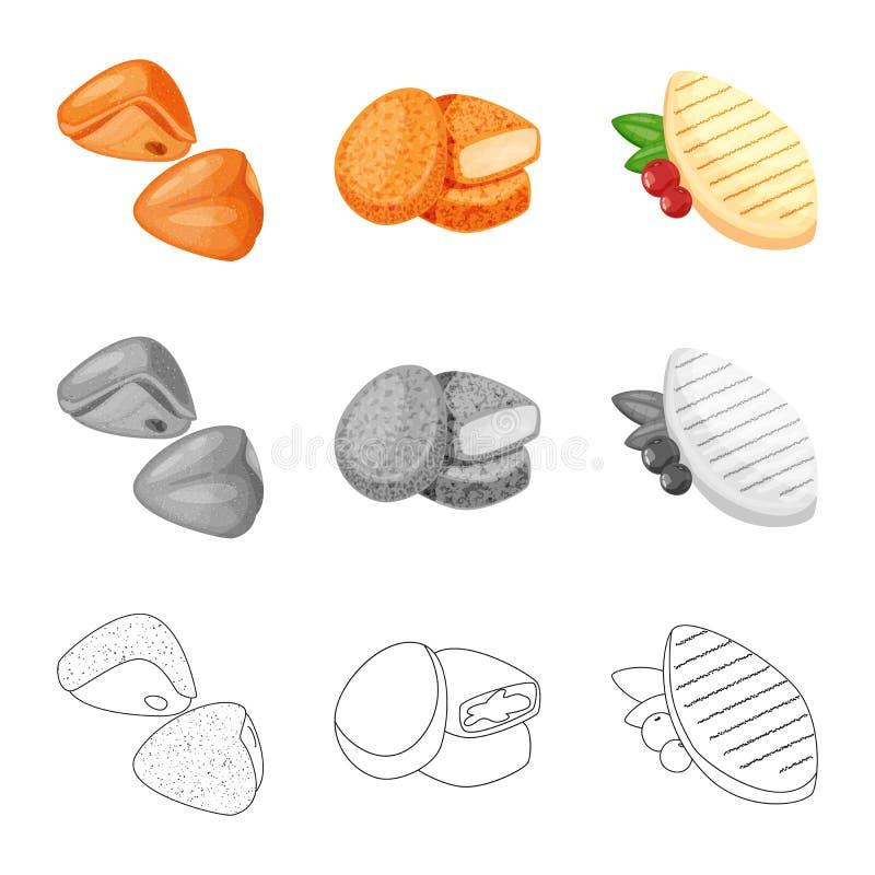 Objeto aislado de la muestra del producto y de las aves de corral Colecci?n de producto y de ejemplo com?n del vector de la agric libre illustration