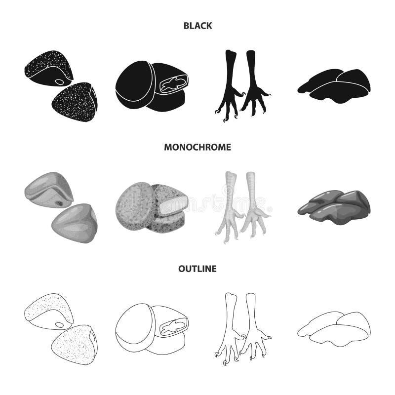Objeto aislado de la muestra del producto y de las aves de corral Fije de producto y del s?mbolo com?n de la agricultura para la  libre illustration