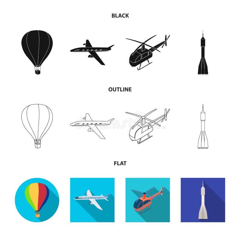 Objeto aislado de la muestra del transporte y del objeto Colecci?n de transporte y de s?mbolo com?n de deslizamiento para la web ilustración del vector