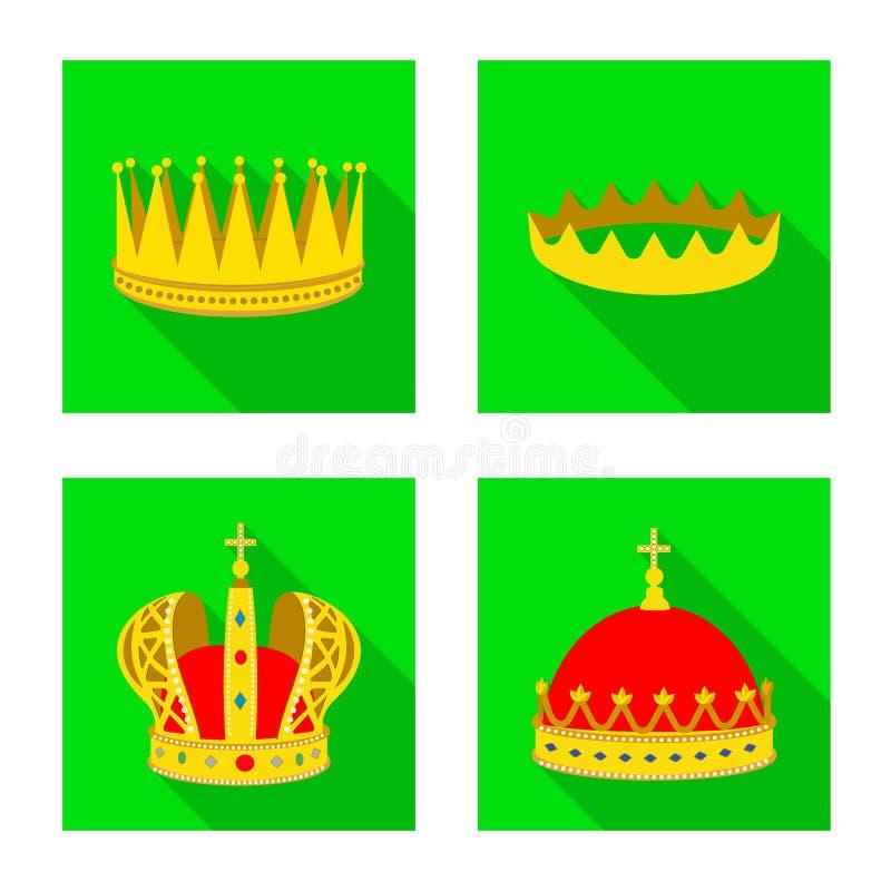 Objeto aislado de la muestra medieval y de la nobleza Colecci?n de ejemplo com?n medieval y de la monarqu?a del vector stock de ilustración