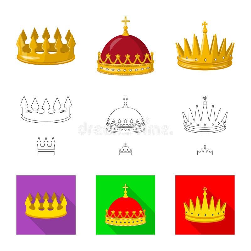 Objeto aislado de la muestra medieval y de la nobleza Colecci?n de icono medieval y de la monarqu?a del vector para la acci?n libre illustration