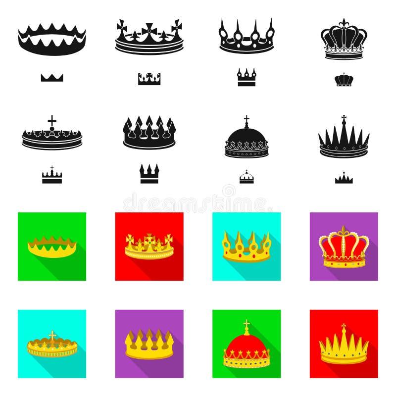 Objeto aislado de la muestra medieval y de la nobleza Fije del ejemplo com?n medieval y de la monarqu?a del vector stock de ilustración