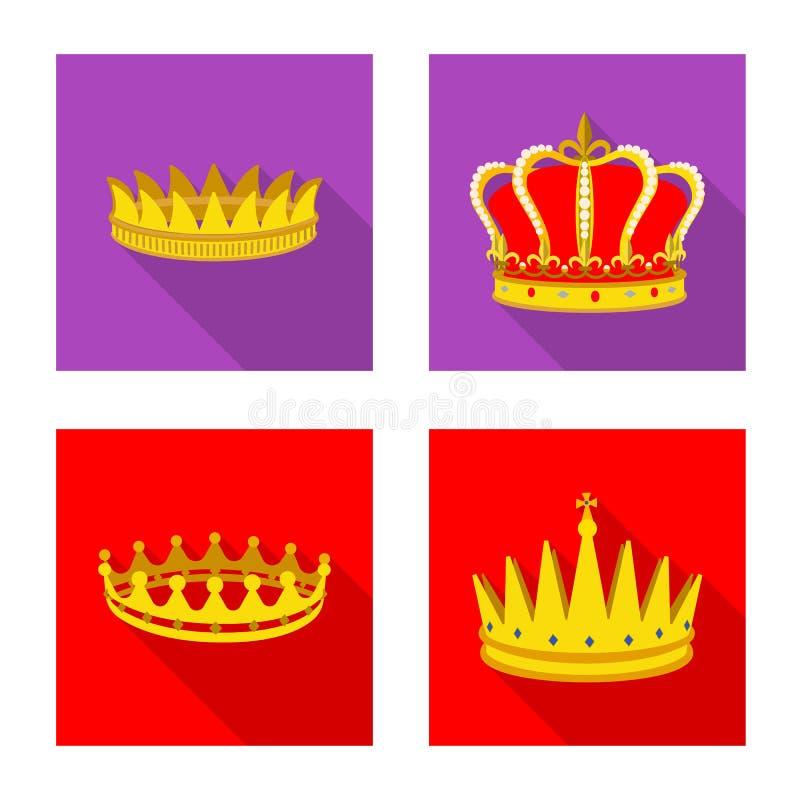 Objeto aislado de la muestra medieval y de la nobleza Fije del ejemplo com?n medieval y de la monarqu?a del vector ilustración del vector