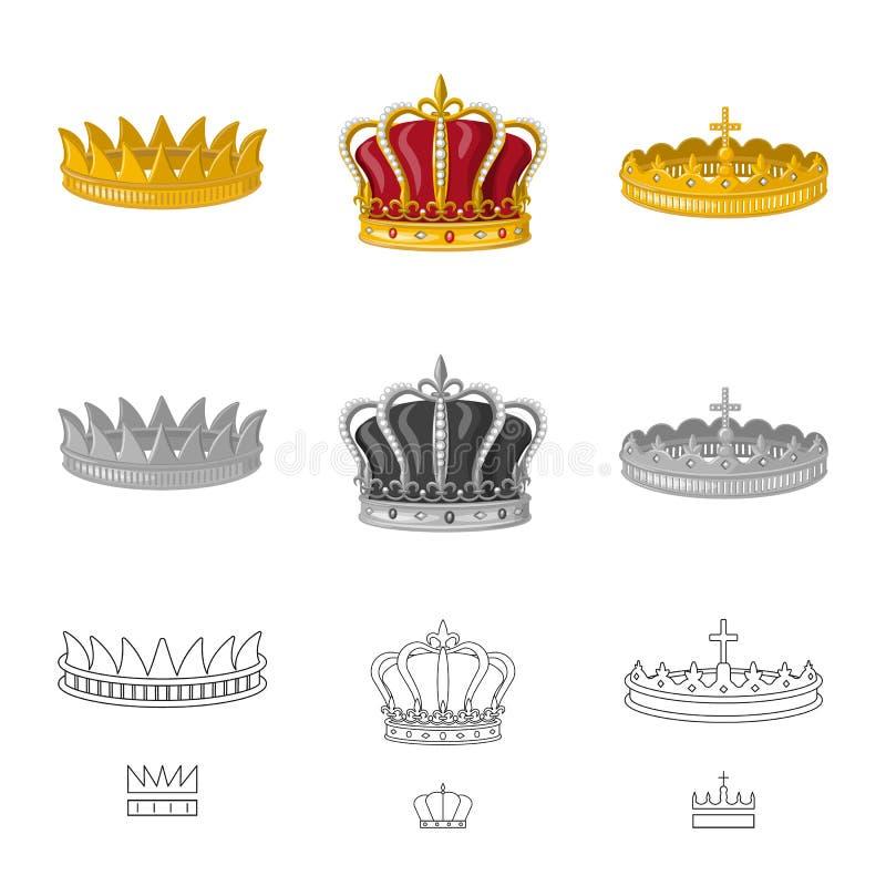 Objeto aislado de la muestra medieval y de la nobleza Fije del icono medieval y de la monarqu?a del vector para la acci?n ilustración del vector