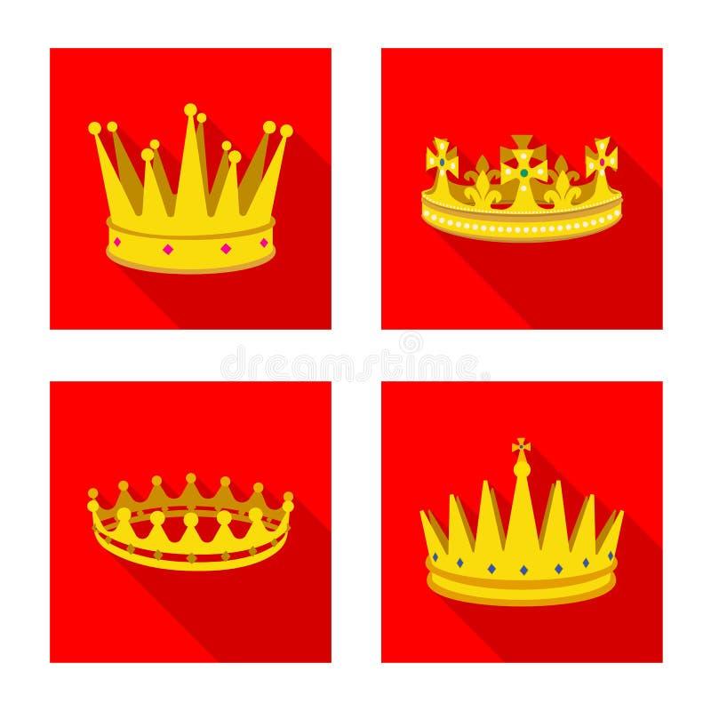 Objeto aislado de la muestra medieval y de la nobleza Fije del s?mbolo com?n medieval y de la monarqu?a para la web stock de ilustración