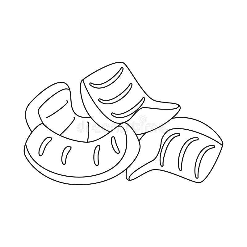Objeto aislado de la muestra de la paja y del bocado Fije de la paja y del símbolo común cocido para la web libre illustration