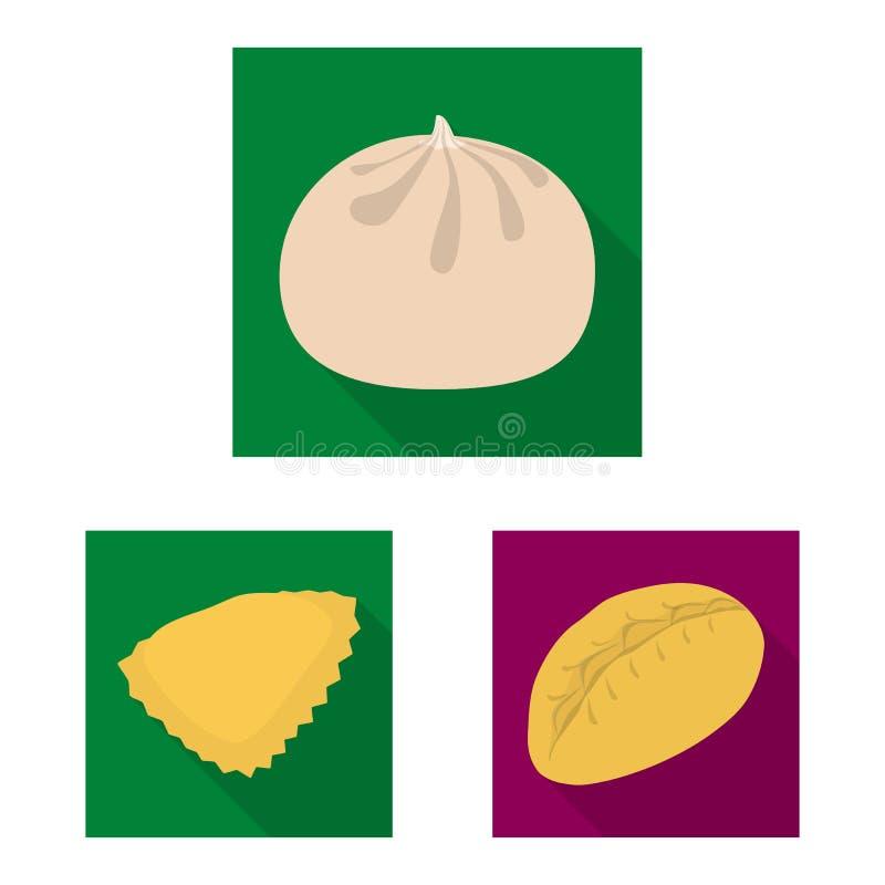 Objeto aislado de productos y del icono el cocinar Colecci?n de productos e icono del vector del aperitivo para la acci?n stock de ilustración