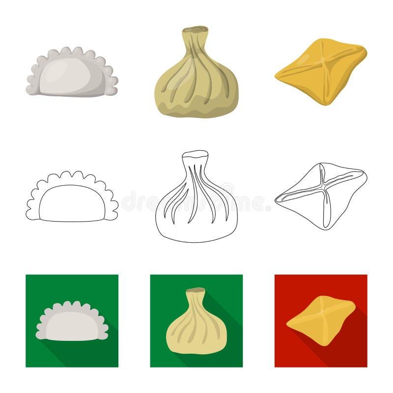 Objeto aislado de productos y del icono el cocinar Fije de productos y del icono del vector del aperitivo para la acci?n libre illustration