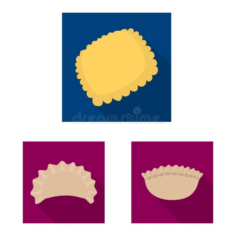 Objeto aislado de productos y del s?mbolo el cocinar Colecci?n de productos y de s?mbolo com?n del aperitivo para la web ilustración del vector