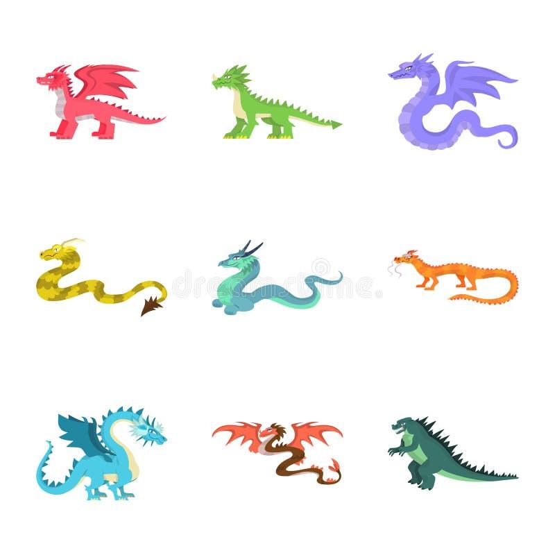 Objeto aislado del icono del criatura y animal Fije de criatura y del símbolo común medieval para la web ilustración del vector