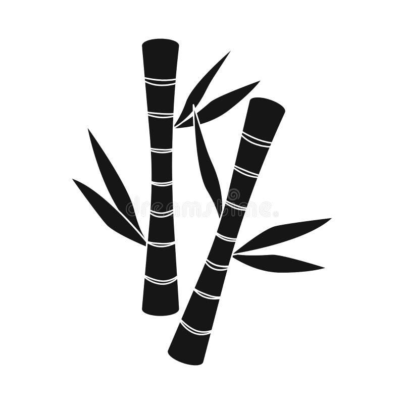 Objeto aislado del icono de bambú y verde Colección de ejemplo común de bambú y botánico del vector libre illustration