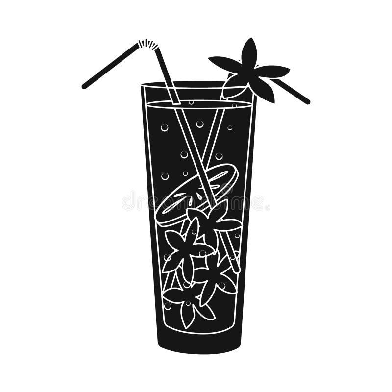 Objeto aislado del icono del limonada y de cristal Fije del s?mbolo com?n de la limonada y de la cal para la web libre illustration
