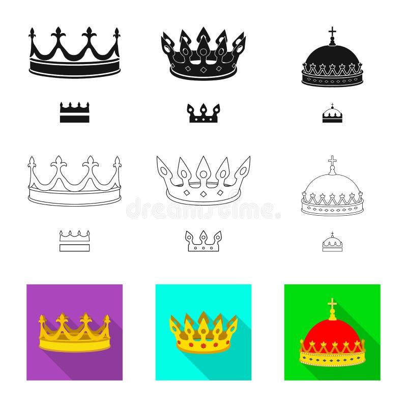 Objeto aislado del icono medieval y de la nobleza Colecci?n de ejemplo com?n medieval y de la monarqu?a del vector libre illustration