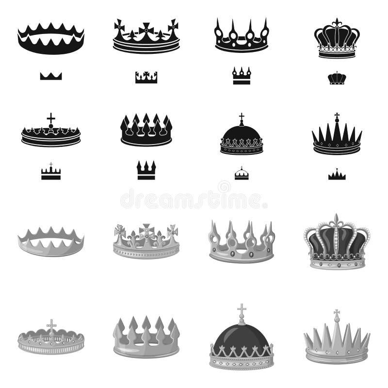 Objeto aislado del icono medieval y de la nobleza Colecci?n de s?mbolo com?n medieval y de la monarqu?a para la web ilustración del vector
