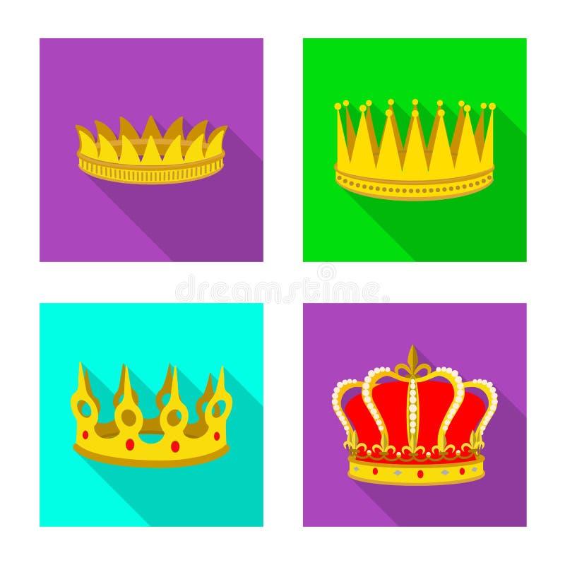 Objeto aislado del icono medieval y de la nobleza Fije del ejemplo com?n medieval y de la monarqu?a del vector ilustración del vector