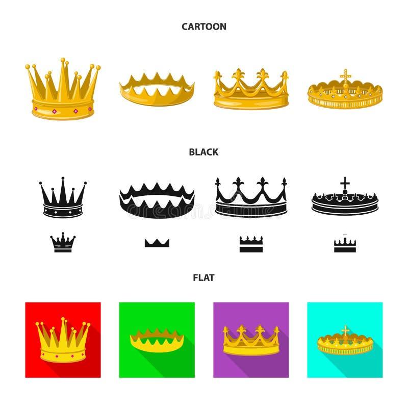 Objeto aislado del icono medieval y de la nobleza Fije del icono medieval y de la monarqu?a del vector para la acci?n stock de ilustración