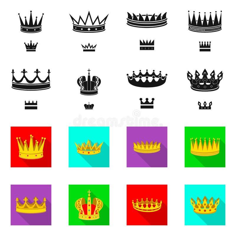 Objeto aislado del icono medieval y de la nobleza Fije del s?mbolo com?n medieval y de la monarqu?a para la web ilustración del vector