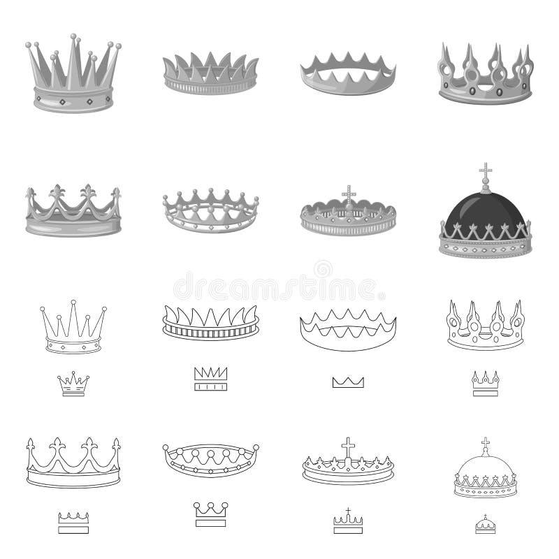 Objeto aislado del icono medieval y de la nobleza Fije del s?mbolo com?n medieval y de la monarqu?a para la web libre illustration
