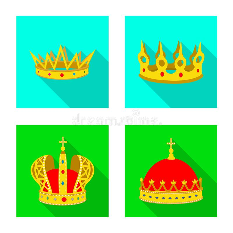 Objeto aislado del icono medieval y de la nobleza Fije del s?mbolo com?n medieval y de la monarqu?a para la web stock de ilustración