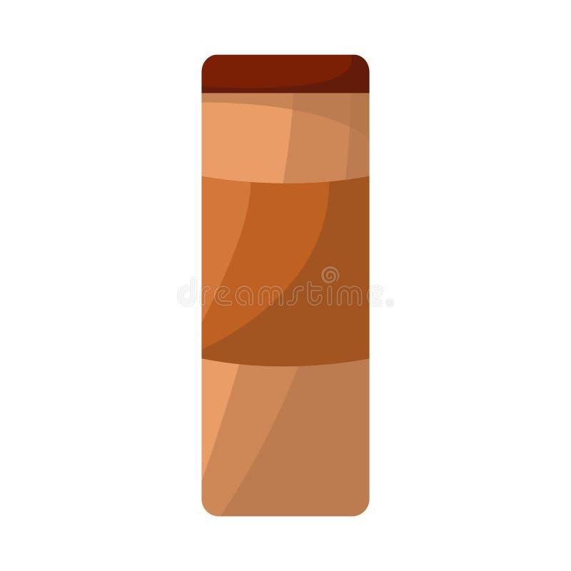 Objeto aislado del icono del paquete y del bocado Colección de icono del vector del paquete y del producto para la acción ilustración del vector