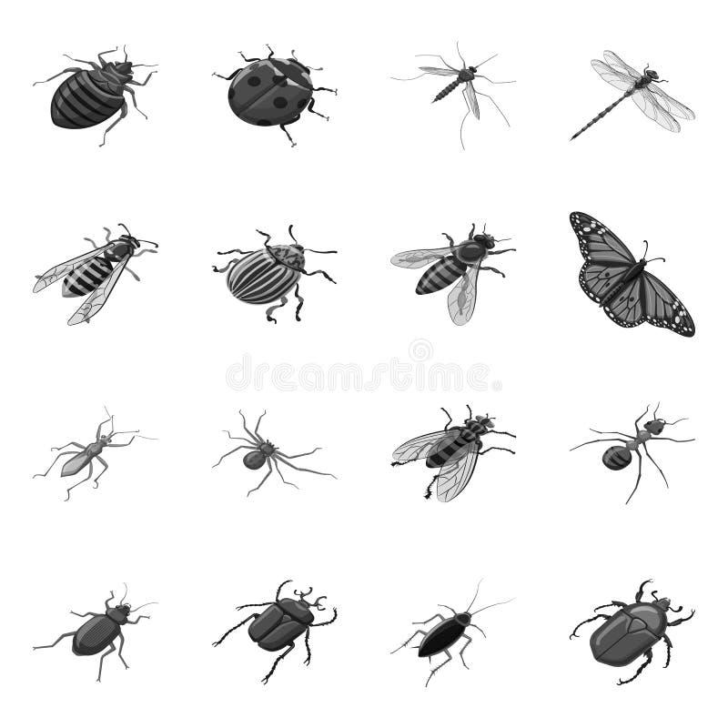 Objeto aislado del icono pequeño y animal Fije del icono pequeño y de la fauna del vector para la acción ilustración del vector