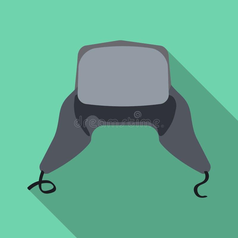 Objeto aislado del icono del sombrero y del casquillo Sistema del icono del vector del sombrero y del accesorio para la acción libre illustration
