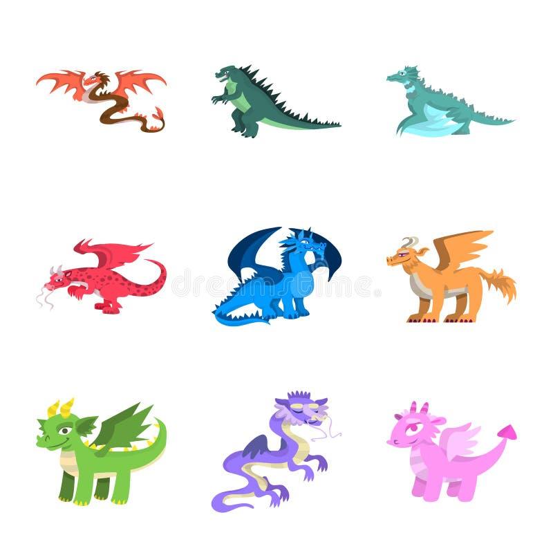Objeto aislado del logotipo del criatura y animal Fije de criatura y del icono medieval del vector para la acción libre illustration