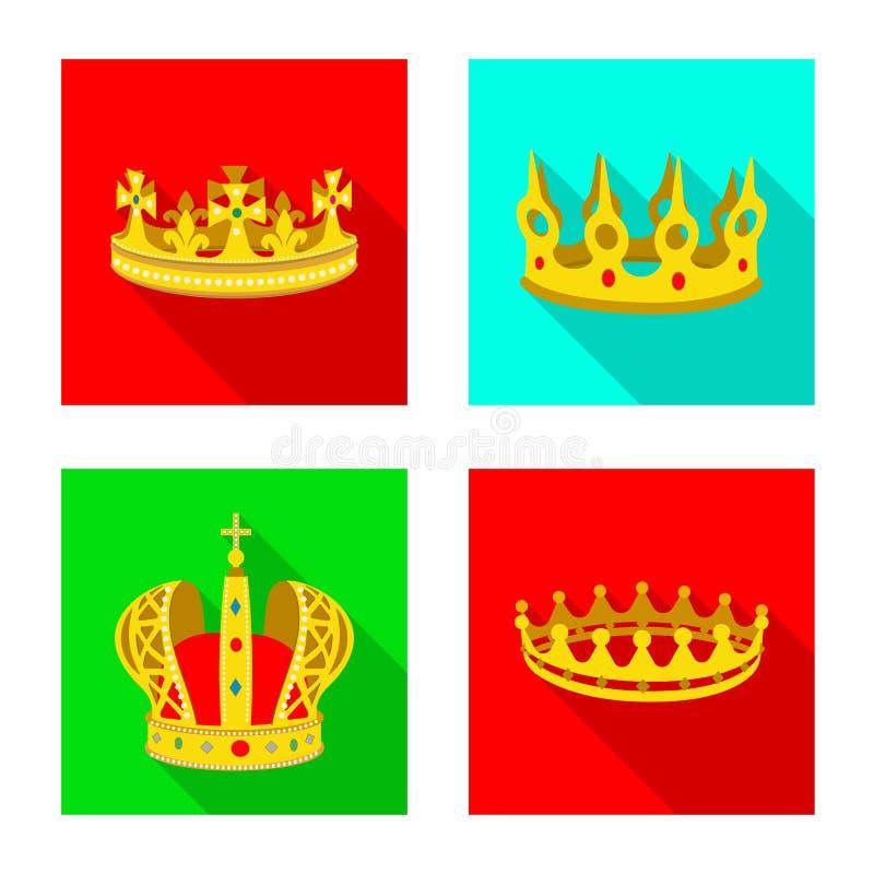 Objeto aislado del logotipo medieval y de la nobleza Colecci?n de ejemplo com?n medieval y de la monarqu?a del vector libre illustration